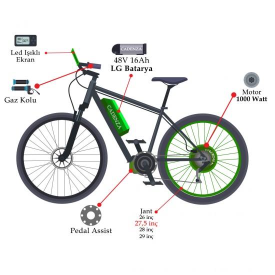 Cadenza E-Bike 1000W 48V16Ah 75 Km/h Gri