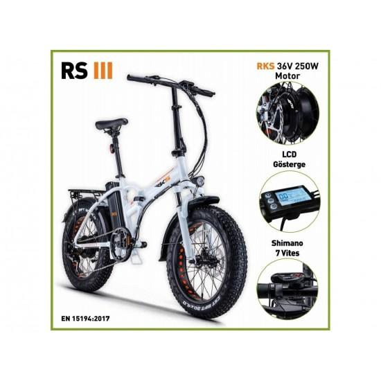 RKS RSIII 250W 36V10Ah 25 Km/h Beyaz
