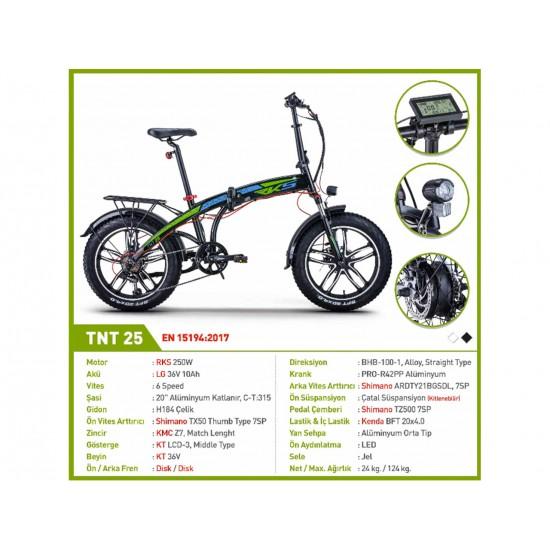RKS TNT25 250W-36V10Ah-25 Km/h Siyah