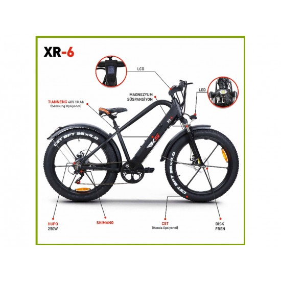 RKS XR6 250W 48V10Ah 25 Km/h Beyaz