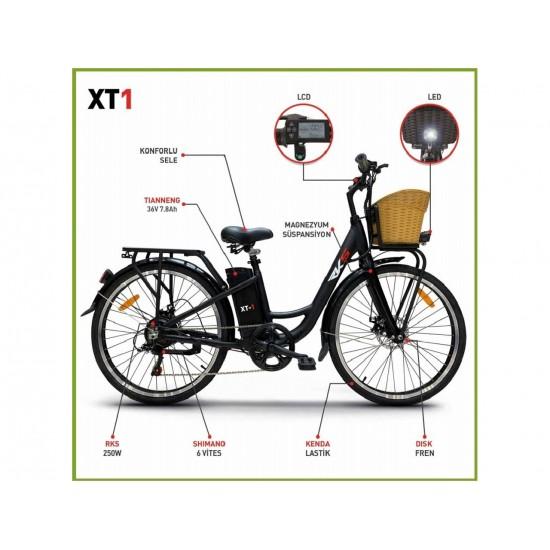 RKS XT1 250W 36V7.8Ah 25 Km/h Siyah