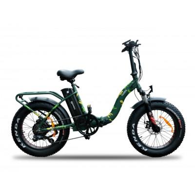 Yuki E-Wild 20S Fatbike 250W 36V10,4Ah 25 Km/h Askeri Yeşil