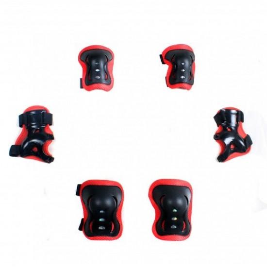 TEX Tex 961 Paten ve Bisiklet Dizlik - Dirseklik Set ( Kırmızı )