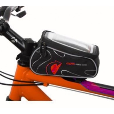 TEX Xbyc 842 Bisiklet Kadro Üstü Çanta Telefon Gözlü Kırmızı