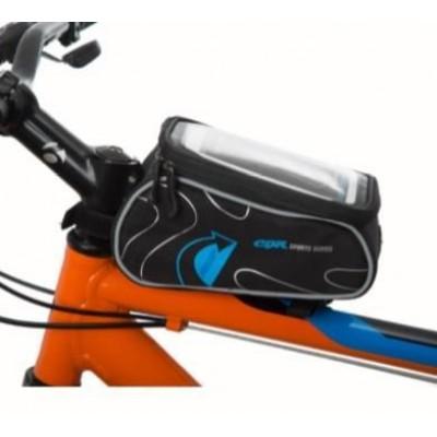 TEX Xbyc 842 Bisiklet Kadro Üstü Çanta Telefon Gözlü Mavi