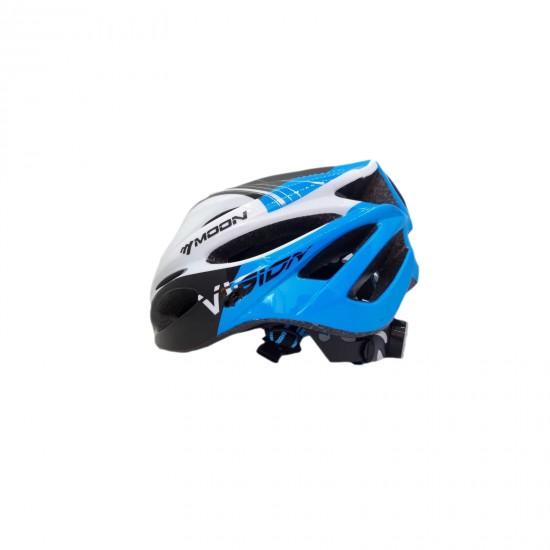 Mavi Bisiklet Kaskı Işıklı 008