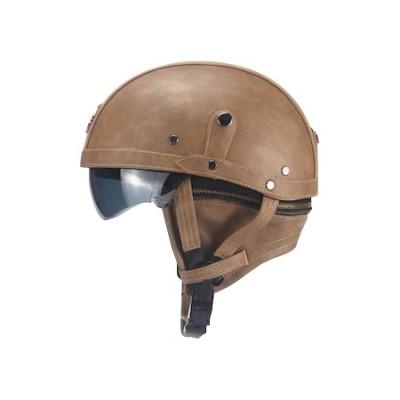 EB-ZN130-3 Deri Helmet Kahverengi
