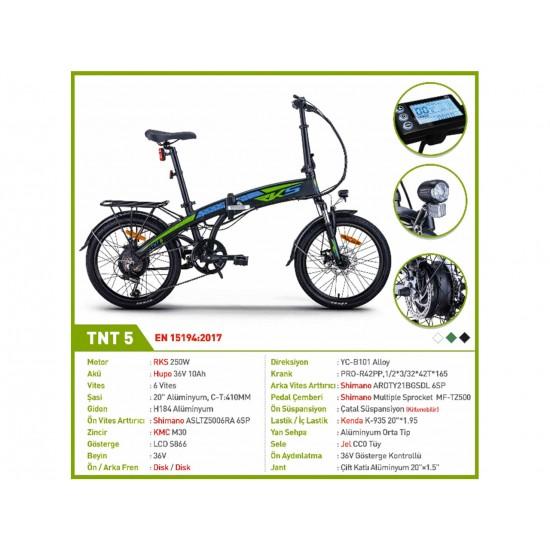 RKS TNT5 250W 36V8.8Ah 25 Km/h Yeşil